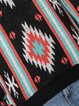 Black Cotton-Blend Long Sleeve Sweater
