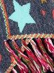 Women Geometric Fringed Hem Vintage Poncho