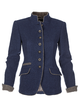 Solid Vintage Blazer Plus Size Stand Collar Jackets