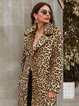 Women Printed Leopard Print Casual Coats