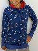 Printed Casual Hoodie Sweatshirt