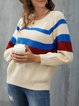 Apricot Casual Knitted Sweater