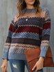Gray Long Sleeve Tribal Sweater