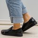 Comfy Low Heel Artificial Leather Flats Womens Slip On Plus Size Shoes