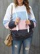 Pink-Gray Shift Casual Sweatshirt