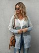Gray Solid Long Sleeve Sweater
