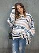 White Cotton Casual Sweater