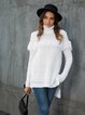 White Shift Turtleneck Long Sleeve Knitted Sweater