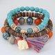 Alloy Vintage Boho Beads Tassel Bracelets