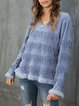 Blue Shift Long Sleeve Knitted Sweater