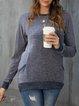 Gray Casual Shift Long Sleeve Pockets Shirts & Tops