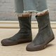 Slip-On Shell Round Toe All Season Womens Boots