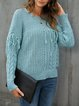 Green Shift Long Sleeve Sweater