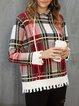 Red Hoodie Pockets Casual Sweatshirt