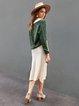 Women Plain Buttoned Casual Skirts