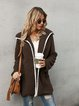 Coffee Shift Cotton Long Sleeve Paneled Outerwear