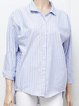 Plus Size Striped Long Sleeve Casual Shirts Tops