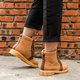 Stylish Suede Lace Up Flat Heel Martin Boots