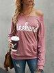 Pink Printed Long Sleeve Sweatshirt