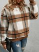Yellow Brown Casual Printed Sweatshirt
