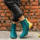 Plus Size Suede Zipper Chunky Heel Ankle Booties
