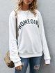 Beige Paneled Casual Cotton Sweatshirt
