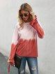 Red Bow Casual Sweatshirt