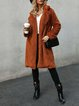 Caramel Long Sleeve Casual Solid Paneled Outerwear