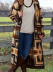 Printed Long Sleeve Cotton-Blend Outerwear