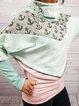Lightgreen Paneled Cowl Neck Knitted Vintage Dresses