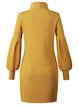 Shift Long Sleeve Casual Solid Dresses