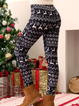 Christmas Cotton-Blend Pants
