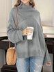 Long Sleeve Turtleneck Plain Casual Sweater