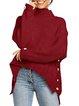 Plain Turtleneck Long Sleeve Sweater