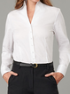 Solid Cotton-Blend Casual Shirts & Tops