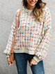 Multicolor Sweet Long Sleeve Shirts & Tops