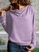 Cowl Neck Plain Casual T-Shirts