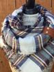Elegant British Plaid Scarves & Shawls