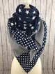 Vintage Star Printed Polka Dots Casual Scarves