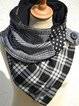 Vintage Plaid Polka Dots Printed Casual Scarves