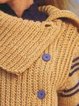 Women Asymmetric Buttoned Vintage Sweater
