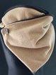 Khaki Casual Cotton-Blend Scarves & Shawls