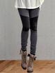 Gray Plain Cotton Casual Pants