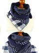Vintage Plaid Star Printed Warm Casual Scarves Shawls