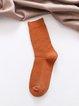Vintage Plain Double-needle Retro Plaid Tube Warm Casual Socks