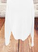 White Holiday Cold Shoulder Plain Paneled Sweater