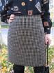 Black Paneled Geometric Acrylic Vintage Skirts