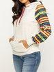 Hoodie Knitted Shift Long Sleeve Sweatshirt