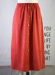 Vintage Striped Buttoned Plus Size Casual Skirts