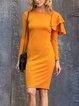 Yellow Long Sleeve Dresses